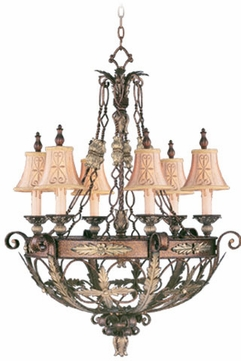 Livex 8846-64 Pomplano Traditional Palacial Bronze with Gilded Accents Lighting Chandelier