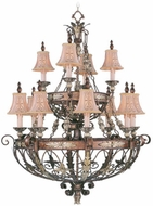 Livex 8848-64 Pomplano Traditional Palacial Bronze with Gilded Accents Chandelier Lamp