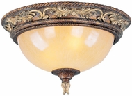 Livex 8858-64 Pomplano Traditional Palacial Bronze with Gilded Accents Flush Mount Lighting