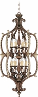 Livex 8866-64 Seville Traditional Palacial Bronze with Gilded Accents Foyer Lighting Fixture