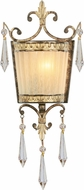 Livex 8880-65 La Bella Traditional Hand Painted Vintage Gold Leaf Wall Lamp
