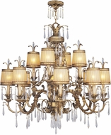 Livex 8888-65 La Bella Traditional Hand Painted Vintage Gold Leaf Ceiling Chandelier