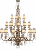 Livex 8910-65 La Bella Traditional Hand Painted Vintage Gold Leaf ADA Hanging Chandelier