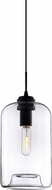 Matteo C41408CL Irresistible Organic Charm Contemporary Black Mini Ceiling Light Pendant