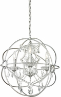 Matteo C43303SV Orva Modern Rusty Silver 20.5  Drop Lighting Fixture
