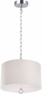 Matteo C45602CH Primo Deroga Chrome 18  Drum Hanging Pendant Lighting