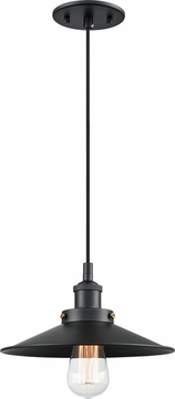 Matteo C46111BKBK Bulstrode's Workshop Modern Black 10.25  Mini Pendant Lighting Fixture