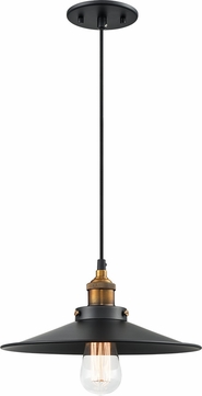 Matteo C46112WGBK Bulstrode's Workshop Modern Warm Gold / Black 11.75  Mini Drop Lighting Fixture
