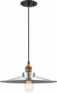 Matteo C46113WGCH Bulstrode's Workshop Contemporary Warm Gold / Chrome Pendant Light Fixture