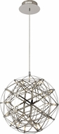 Matteo C48601CH Manhattan Contemporary Chrome LED 16  Ceiling Light Pendant