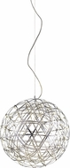 Matteo C48602BN Manhattan Modern Brushed Nickel LED 21.5  Ceiling Pendant Light