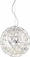 Matteo C48606CH Manhattan Contemporary Chrome LED 30  Pendant Lighting