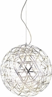 Matteo C48606CH Manhattan Series Contemporary Chrome LED 35  Hanging Lamp