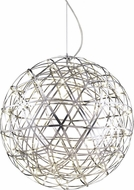 Matteo C48610BN Manhattan Modern Brushed Nickel LED 38  Pendant Light