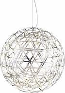 Matteo C48610CH Manhattan Contemporary Chrome LED 38  Lighting Pendant