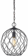 Matteo C54401MB Parisian Mesh Matte Black Mini Pendant Light Fixture