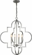 Matteo C56804SV Scepter Contemporary Rusty Silver Entryway Light Fixture