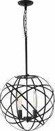 Matteo C57802BK Atom Modern Black 18  Drop Ceiling Light Fixture