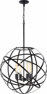 Matteo C57804BK Atom Contemporary Black 23  Drop Lighting Fixture