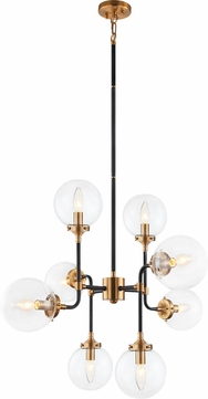 Matteo C58208AGCL Particles Contemporary Aged Gold Brass Lighting Chandelier