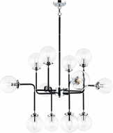 Matteo C58212CHCL Particles Contemporary Black & Chrome Chandelier Lighting