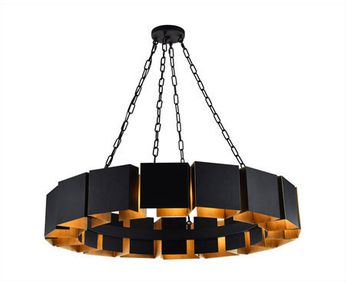 Matteo C59316MB Mattone Contemporary Matte Black 36  Pendant Lighting Fixture