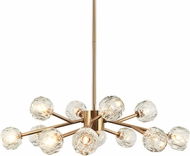 Matteo C61412AG Rosa Contemporary Aged Gold Brass Ceiling Chandelier