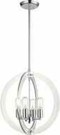 Matteo C61504CH Dangle Candle Contemporary Chrome 18  Foyer Light Fixture