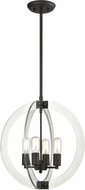 Matteo C61504RB Dangle Candle Contemporary Rusty Black 18  Foyer Lighting Fixture