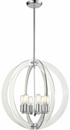 Matteo C61506CH Dangle Candle Modern Chrome 24  Entryway Light Fixture