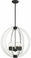 Matteo C61506RB Dangle Candle Contemporary Rusty Black 24  Foyer Lighting