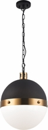 Matteo C61803AGOP Torino Modern Aged Gold Brass Hanging Light
