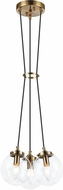 Matteo C63003AGCL The Bougie Modern Aged Gold Brass Multi Hanging Light