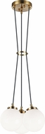 Matteo C63003AGOP The Bougie Contemporary Aged Gold Brass Multi Pendant Light Fixture