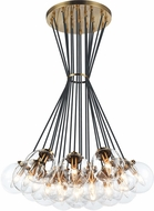 Matteo C63019AGCL The Bougie Modern Aged Gold Brass Multi Drop Lighting Fixture