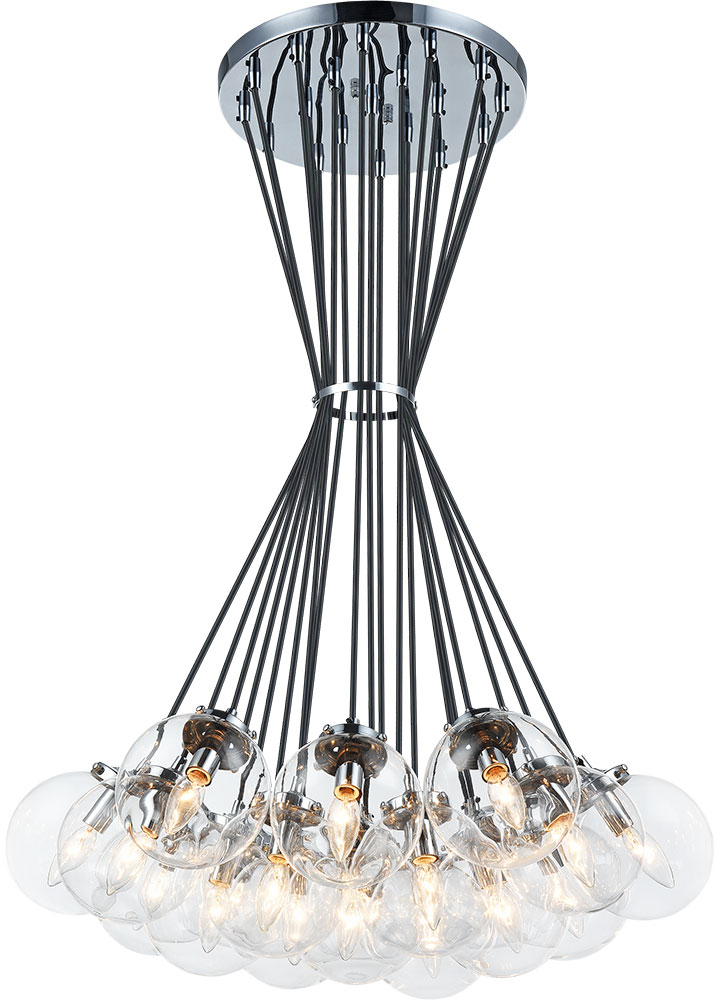 Bougie Chandelier matteo c63019chcl the bougie modern chrome multi pendant light - mto