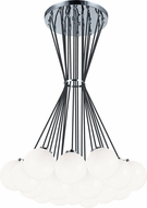 Matteo C63019CHOP The Bougie Contemporary Chrome Multi Lighting Pendant