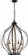 Matteo C64205MB Voli�re Modern Matte Black 23.8  Foyer Lighting