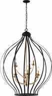 Matteo C64209MB Voli�re Contemporary Matte Black 33  Foyer Light Fixture