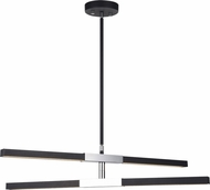 Matteo C64738MBCH Lineare Contemporary Matte Black and Chrome LED Chandelier Lighting