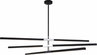 Matteo C64769MBCH Lineare Modern Matte Black and Chrome LED Chandelier Lamp