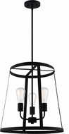 Matteo C65903MB Bustle Modern Matte Black 18  Entryway Light Fixture
