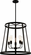 Matteo C65905MB Bustle Contemporary Matte Black 24  Foyer Lighting