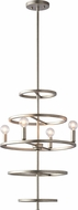 Matteo C67404SV Hoopa Modern Rusty Silver Mini Chandelier Light