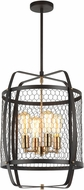 Matteo C67804RB Hearth Contemporary Rusty Black 18  Foyer Light Fixture