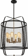 Matteo C67806RB Hearth Modern Rusty Black 24  Foyer Lighting Fixture