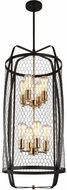 Matteo C67808RB Hearth Modern Rusty Black Foyer Light Fixture