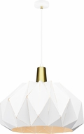 Matteo C70911WH The Origami Contemporary White 19.3 Hanging Light