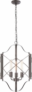 Matteo C71403WD Asher Modern Wood Grain Foyer Lighting