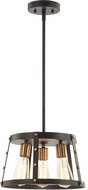 Matteo C72003MBAG Beaton Contemporary Matte Black and Aged Gold Brass Hanging Light Fixture
